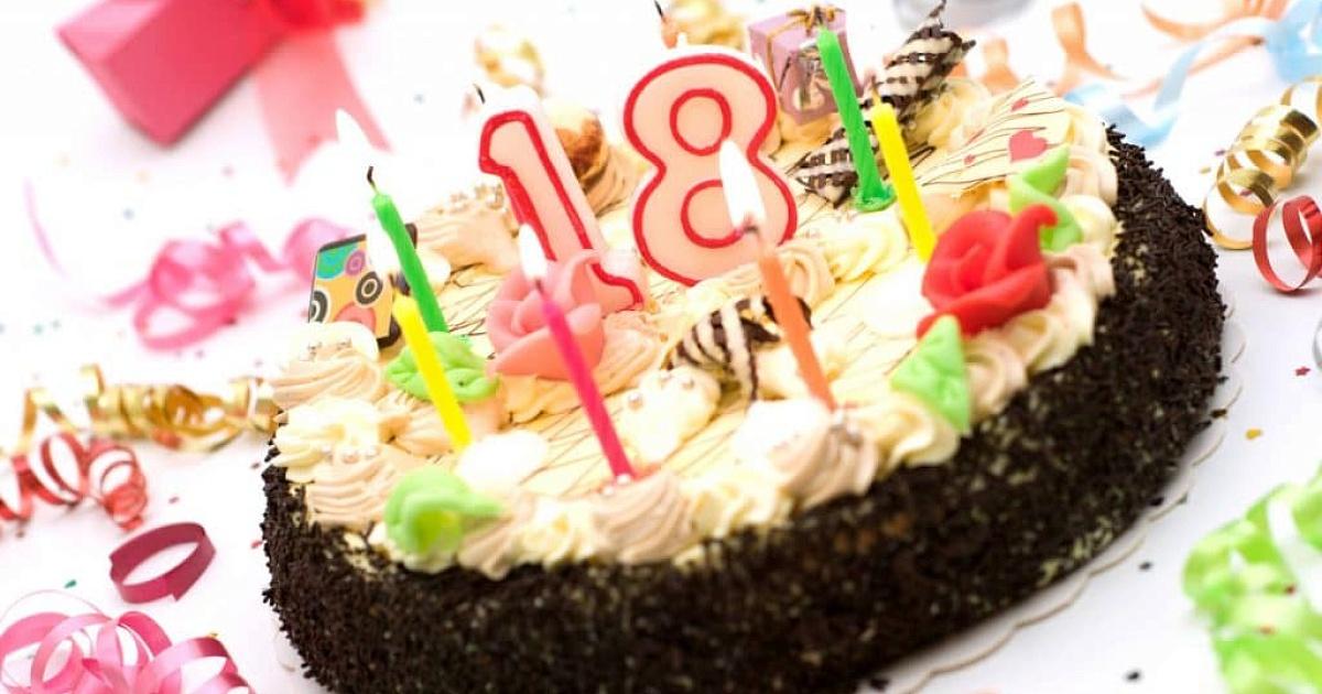 Открытка с днем рождения на 18 лет девушке фото, днем рождения картинки